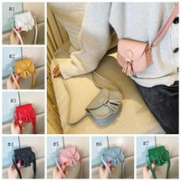 Mini bolsas infantiles Bolso Versión coreana de la superficie suave del color puro Simple y lindo bolso diagonal de un hombro tassel decorativo billetera