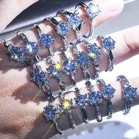 Bague en diamant de mariage Bague réglable Bijoux pour femmes 2021 Tendance Accessoires Saint Valentin Cadeau de la Saint Valentin