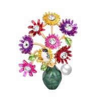 Pins, spille di alta qualità disegni stile gioielli stile spilla -seling temperamento lega con fiori corpetto ragazza