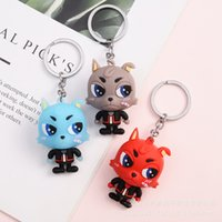 keychain Cartoon small animal key chain pendant gift baby claw machine supplies bag boutique
