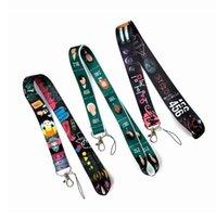 Hot Anime Keychain Straps for Car Keys Phone Chain Work Id Card Bag Lanyard Women Jewelry Gift
