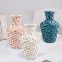 Ev Bahçe Dekorasyon Çiçek Vazo İmitasyon Dokuma Plastik Vazolar Masa Süsler Hidroponik Düğün Hediyeleri