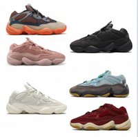 2021 top running kanye west shoes yezzys 500 Soft Vision stone Desert Rat bone white Utility Black Salt super moon yellow mens trainers sports sneakers