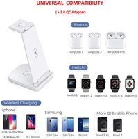 Afurdel Wireless Charging Station QI 3 in 1 Fast Wireless Charger StandCompatible for iPhone 11 11 Pro Max XR XS Max Xs X 8 8P