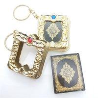 Neue muslimische Keychain-Harz islamischer Mini-Ark Quran-Buch echtes Papier kann Anhänger-Schlüsselanhänger lesen Schlüsselanhänger Religiöse Schmuck 203 Q2