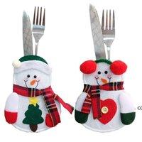 ثلج سانتا السكاكين البدلة سكاكين الناس حقيبة حامل جيوب الجدول عشاء ديكور عيد الميلاد السنة الجديدة زينة عيد الميلاد للمنزل DHE10427