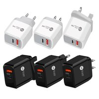 18W PD+QC3.0 type c Charger Fast wall chargers EU UK US Plug for iPhone Xiaomi Samsung smart phones