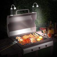 Barbecue Grillades Magnétique Magnétique à 360 degrés BBQ réglable BBQ léger Résistant EXTÉRIEUR EXTÉRIEUR EXTÉRIEURS ACCESSOIRES ACCESSOIRES Jardin Pique-nique RRD7693
