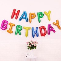 Wall Stickers Latex Balloons Set Party With Confetti Kids Letter Pastel Decoration Birthday Happy Wedding Colour T2N5