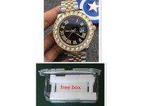 China_dhgate_watches ساعات بوتيك الأزياء الكلاسيكية الفولاذ المقاوم للصدأ التلقائي السطح الروماني الميكانيكية مع الماس للرجال مشاهدة الأعمال للماء
