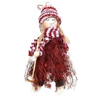 Christmas Decorations Beautiful Decoration Plush Home Decor Festival Cloth Mini Doll Indoor Supplies Party Gifts Xmas Hanging
