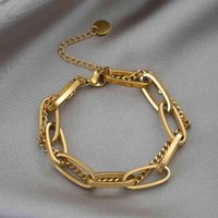 316l Stainless Steel Fashion Upscale Jewelry Hip-hop Street Dance Accessories Charms Hyperbole Thick Chain Bracelet for Women