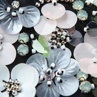 Vrouwen Sequin Floral Revers False Collar Beaded Sieraden Afneembare Ketting Choker X5XA Neck Ties