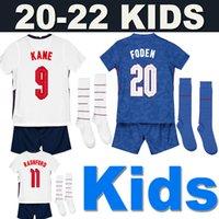Camisa de futebol England Inglaterra 2020 2021 Kids boy soccer jersey casa fora da seleção nacional KANE STERLING RASHFORD SANCHO LINGARD Conjunto de uniforme masculino + infantil
