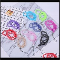 Favor Event Festive Party Supplies Home & Gardencrystal Mobile Phone Lanyard Bling Rhinestone Keychain Hanging Rope Neck Strap Key Lanyards F