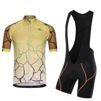 Conjuntos de corrida de manga curta dos homens Jersey com bib shorts verão lycra luz bicicleta roupas terno rápido seco respirável Bolso