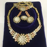 Earrings & Necklace Limit Black Friday Discount High Fashion Rose Gold Color African Big Wedding Bridal Costume Jewelry Sets