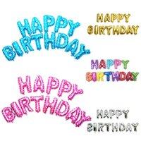 Party Decoration Multicolor Letters Foil Balloons Children Birthday Letter Decor