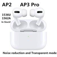 Air Gen 3 Écouteurs sans fil Casque TWS Chargement Rename GPS Bluetooth Casques PK Pods 2 AP Pro AP2 AP3 AP3 W1 Jieli Chip Écouteurs 2e génération