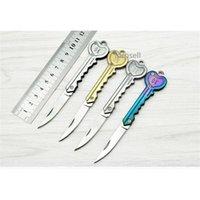 "5"" Mini Key Chain Ring Folding Pocket Knife Outdoor EDC Knife New"