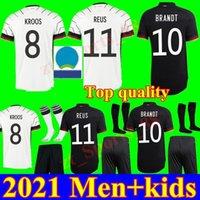 Euro Cup Men + kids kit 2021 maillots de football Allemagne Accueil enfants jeunes loin HUMMELS Kroos Draxler REUS MULLER GÖTZE football chemises uniformes
