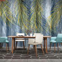 Papel de parede personalizado 3D Murais Molhos Pintados Mão Nórdica Restaurante Abstrato Restaurante Sala de estar Sofá TV Fundo de parede PinturaGood Quatity
