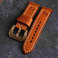 Bronze Watch With Handmade Watchabdn Suitable For PAM Italian Leather Bracelet 20 22 24MM bronze watch accessories male
