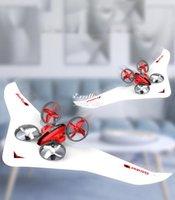 DIY 3 in einem RC-Flugzeugspielzeug, Segelflugzeug, Quadcopter-Drohne, Luftkissenfahrzeug, drei Moden von Meer, Land und Luft, coolen Drift, Weihnachtskind-Geburtstagsgeschenke, 2-1