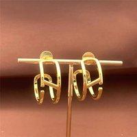 Gold Studs Earrings Womens Earrings Women Luxurys Designers Earrings Jewelry Accessories Boucles Love Presents Gifts