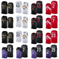 Erkekler S-2XL Basketbol Formaları 1 McGrady 15 Carter 43 Siakam 23 Vanvleet 7 Lowry Red Black Blue City Version Jersey
