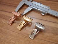 Watchpart mens watch 316 Stainless Steel Silver  gold  rose gold Pin buckle in 18mm AOP Watch Folding Clasp Royal Oak 15400 15390