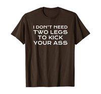 Amputee Funny 2本の足を蹴るために責任がある冗談Tシャツ