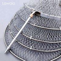 Lawaias mão-tecida pescadora gaiola cinza trançada rápida-secagem multifilament peixes guarda fio pendurado tênis raquete linha acessórios de engrenagem