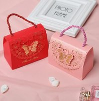 Gift Wrap 5Pcs lot 2 Sizes Kraft Candy Bag With Handle Small Box Wedding Party Favor Packaging Present