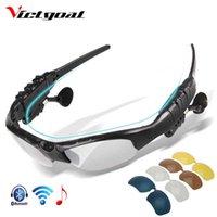 Victgoal الاستقطاب الدراجات نظارات بلوتوث الرجال دراجة النظارات الشمسية mp3 الهاتف دراجة في الهواء الطلق الرياضة تشغيل 5 عدسة نظارات x0726
