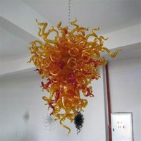 Modern Chandelier LED Pendant Lights Lamp 100% Hand Blown Glass Chandeliers for Bedroom Home Decoration