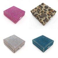 False Eyelashes Rhinestone Cases 50pcs Natural Size Glisten Lashes Packaging Box Case With Tray Nail Tip Storage Makeup