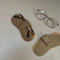 Очки в корпусе кожаные кожаные солнцезащитные очки для хранения мешок Sun портативная головка кожи [выпущено 29 сентября]