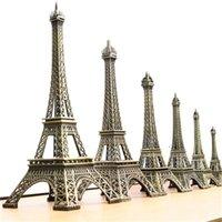 8/15 cm 38cm Crafts de metal doméstico Vintage Bronce Paris E-IFFEL Tower Tour Estatua Alloy Modelo Decoración del hogar Recuerdos de viaje Regalos X0710