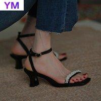 Sexy Peep Toe Женские Обувь Груша Сандалии Мода Женщины Неглубокий рот PU Высокое Качество Шляп на лодыжку Sapato