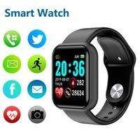 Y68 D20 Smart Watch Homens à prova d'água Mulheres SmartWatch Fitness Pulseira Pressão arterial Coração Monitor Pedômetro Cardio Relógios para iOS Android