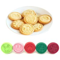 Baking Moulds Wooden Handle Cutter Made Prints Molds DIY Pastry Cake Cookie Seal Silicone Stamp Bakeware Kitchen Dining Bar