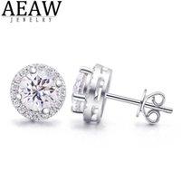 Aeaw 2ctw def blanc Diamond Test transcédés Boucle d'oreille argent Bijoux Gemstone Petite amie cadeau spécial Prix spécial pour femmes 210619