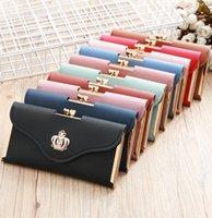 Wallet Women Long Tassel Standard Wallets Card Holder Zipper Pocket Inside Coated Canvas Inner Leather 7 Colors Available