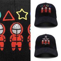 Nakış Kalamar Oyunu Topu Şapka Kırmızı Kare Daire Üçgen Eşofman Maskeli Işlemeli Snapbacks Açık Spor Beyzbol Kapaklar Sun Visor İlgili Ürünler G016BHG