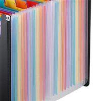 حار توسيع ملف مجلد 24 جيوب الأسود الأكورديون a4 مجلد موافق YAS 357 S2