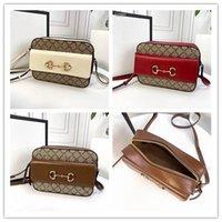 디자이너 럭셔리 horsebit 1955 베이지 색 캔버스 작은 어깨 가방 크로스 바디 가방 크기 242011cm 새로운