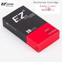 EZ Revolution Tattoo Needles Cartridge Curved Magnum # 12 0.35mm Lång Taper 5.5mm för patron tatueringsmaskin och grepp 20st 210324