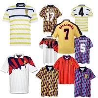Retro Classic Scotland Futebol Jerseys Camisetas 1988 1991 1998 1993 1998 1998 1998 Scottish McCoist Bowman Mcleish McInally Gallecher Home Away Futebol Camisa