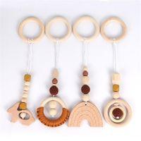 Декоративные объекты фигурки 4 штуки / набор деревянные детские погремушки игрушки тренажерный зал играть в стойку висит декор украшения детская комната кулон украшения подарки